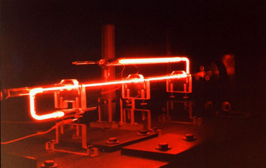 This laser tube was made from  Neon Gas Lasers