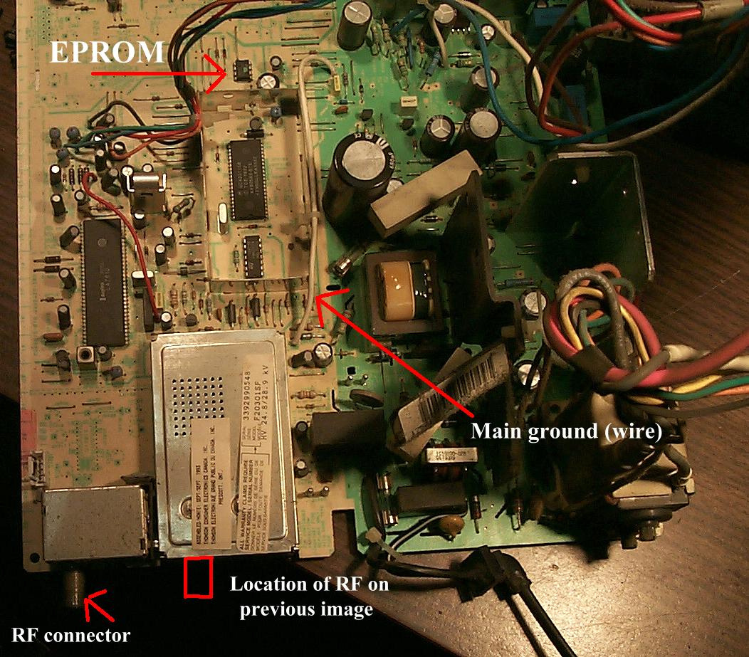 RCA/GE TV (CTC175-187+) Solder Connection and EEPROM Problems