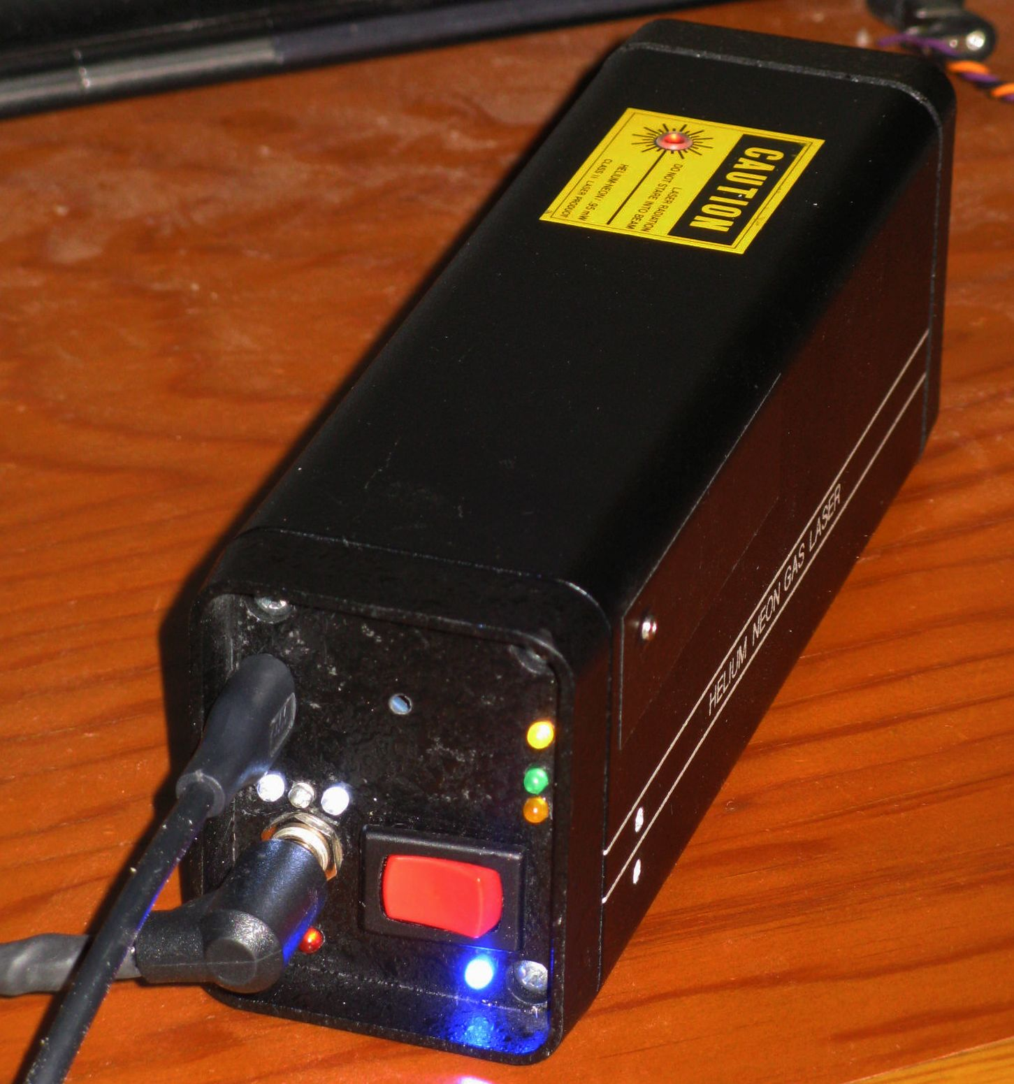 Sams Laser Faq Home Built Helium Neon Hene Furthermore Garage Door Opener Safety Sensor Wiring Plc Common Non Stabilied Lasers Being Just Barely Longer Than The 6 Inch Melles Griot Barcode Scanner Tube Inside A 9 Ohm Wire Wound Heater Covers