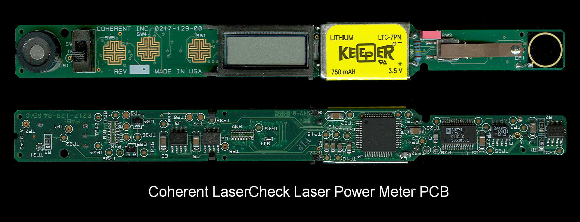 coherent lasercheck laser power meter pcb (clcpcb1 jpg)